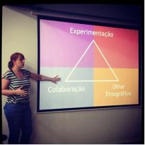 Meu triângulo de Design Thinking.